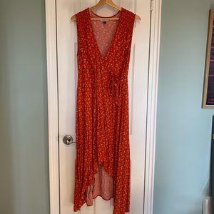 Universal Thread Summer Red Wrap Dress